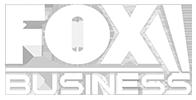 Fox New Business Logo, White